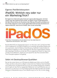Titelbild der Ausgabe 8/2019 von Eigenes iPad-Betriebssystem: iPadOS: Wirklich neu oder nur ein Marketing-Trick?. Zeitschriften als Abo oder epaper bei United Kiosk online kaufen.