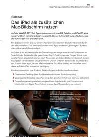 Titelbild der Ausgabe 8/2019 von Sidecar: Das iPad als zusätzlichen Mac-Bildschirm nutzen. Zeitschriften als Abo oder epaper bei United Kiosk online kaufen.
