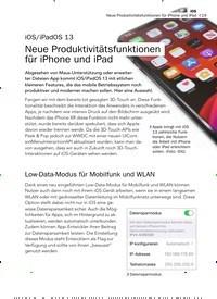 Titelbild der Ausgabe 8/2019 von iOS/iPadOS 13: Neue Produktivitätsfunktionen für iPhone und iPad. Zeitschriften als Abo oder epaper bei United Kiosk online kaufen.