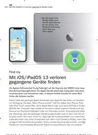 Titelbild der Ausgabe 8/2019 von Find my: Mit iOS/iPadOS 13 verloren gegangene Geräte finden. Zeitschriften als Abo oder epaper bei United Kiosk online kaufen.