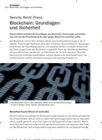 Titelbild der Ausgabe 9/2019 von Security, Recht, Praxis: Blockchain: Grundlagen und Sicherheit. Zeitschriften als Abo oder epaper bei United Kiosk online kaufen.