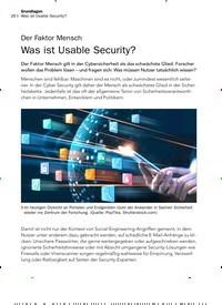 Titelbild der Ausgabe 9/2019 von Der Faktor Mensch: Was ist Usable Security?. Zeitschriften als Abo oder epaper bei United Kiosk online kaufen.