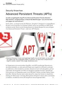 Titelbild der Ausgabe 9/2019 von Security Know-how: Advanced Persistent Threats (APTs). Zeitschriften als Abo oder epaper bei United Kiosk online kaufen.