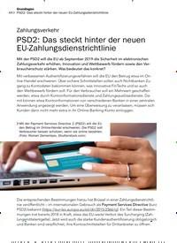 Titelbild der Ausgabe 9/2019 von Zahlungsverkehr : PSD2: Das steckt hinter der neuen EU-Zahlungsdienstrichtlinie. Zeitschriften als Abo oder epaper bei United Kiosk online kaufen.