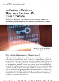 Titelbild der Ausgabe 9/2019 von Authentifizierung: Identity & Access Management: Alles, was Sie über IAM wissen müssen. Zeitschriften als Abo oder epaper bei United Kiosk online kaufen.