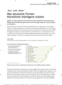 """Titelbild der Ausgabe 10/2019 von """"Buy"""" statt """"Make"""" Wie deutsche Firmen Künstliche Intelligenz nutzen. Zeitschriften als Abo oder epaper bei United Kiosk online kaufen."""