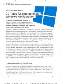 Titelbild der Ausgabe 11/2019 von Windows entnerven 20 Tipps für eine optimale Windows-Konfiguration. Zeitschriften als Abo oder epaper bei United Kiosk online kaufen.