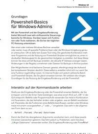 Titelbild der Ausgabe 11/2019 von Grundlagen: Powershell-Basics für Windows-Admins. Zeitschriften als Abo oder epaper bei United Kiosk online kaufen.