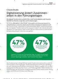 Titelbild der Ausgabe 12/2019 von C-Suite-Studie: Digitalisierung ändert Zusammenarbeit in den Führungsetagen. Zeitschriften als Abo oder epaper bei United Kiosk online kaufen.