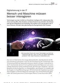 Titelbild der Ausgabe 12/2019 von Digitalisierung in der IT: Mensch und Maschine müssen besser interagieren. Zeitschriften als Abo oder epaper bei United Kiosk online kaufen.