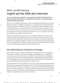 Titelbild der Ausgabe 2/2020 von DDoS- und BGP Hijacking: Angriff auf die DNA des Internets. Zeitschriften als Abo oder epaper bei United Kiosk online kaufen.