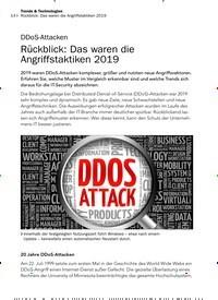 Titelbild der Ausgabe 2/2020 von DDoS-Attacken: Rückblick: Das waren die Angriffstaktiken 2019. Zeitschriften als Abo oder epaper bei United Kiosk online kaufen.