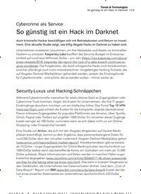 Titelbild der Ausgabe 2/2020 von Cybercrime als Service: So günstig ist ein Hack im Darknet. Zeitschriften als Abo oder epaper bei United Kiosk online kaufen.