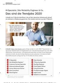 Titelbild der Ausgabe 3/2020 von KI-Spezialist, Site Reliability Engineer & Co. Das sind die Trendjobs 2020. Zeitschriften als Abo oder epaper bei United Kiosk online kaufen.