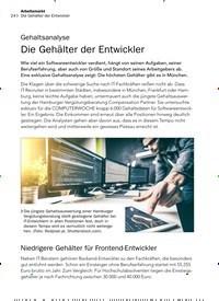 Titelbild der Ausgabe 3/2020 von Gehaltsanalyse: Die Gehälter der Entwickler. Zeitschriften als Abo oder epaper bei United Kiosk online kaufen.