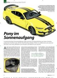 Titelbild der Ausgabe 8/2019 von 1:18 AUTO art: Ford USA Mustang Shelby GT350 2017: Pony im Sonnenaufgang. Zeitschriften als Abo oder epaper bei United Kiosk online kaufen.