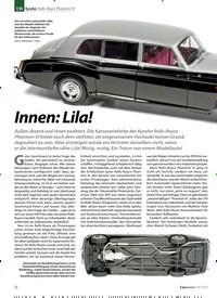 Titelbild der Ausgabe 10/2019 von Kyosho: Rolls-Royce Phantom VI: Innen: Lila!. Zeitschriften als Abo oder epaper bei United Kiosk online kaufen.