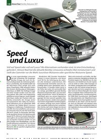 Titelbild der Ausgabe 10/2019 von Almost Real: Bentley Mulsanne 2017: Speed und Luxus. Zeitschriften als Abo oder epaper bei United Kiosk online kaufen.