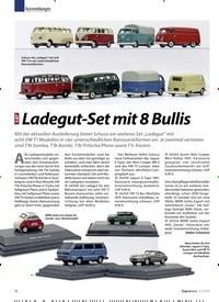 Titelbild der Ausgabe 11/2019 von Kurzmeldungen: 1:87 Ladegut-Set mit 8 Bullis. Zeitschriften als Abo oder epaper bei United Kiosk online kaufen.