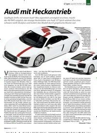 Titelbild der Ausgabe 12/2019 von GT Spirit: Audi R8 V10 RWS 2018: Audi mit Heckantrieb. Zeitschriften als Abo oder epaper bei United Kiosk online kaufen.