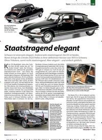 Titelbild der Ausgabe 1/2020 von Norev: Citroën DS23 IE Pallas 1973: Staatstragend elegant. Zeitschriften als Abo oder epaper bei United Kiosk online kaufen.