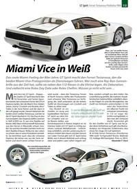 Titelbild der Ausgabe 4/2020 von GT Spirit: Ferrari Testarossa Pinifarina 1984 1:12:Miami Vice in Weiß. Zeitschriften als Abo oder epaper bei United Kiosk online kaufen.