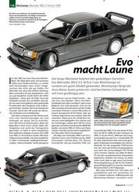 Titelbild der Ausgabe 4/2020 von 1:18 Minichamps: Mercedes 190E 2.5-16 Evo 1 1989:Evo macht Laune. Zeitschriften als Abo oder epaper bei United Kiosk online kaufen.