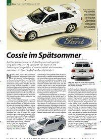 Titelbild der Ausgabe 8/2019 von 1:18 Norev: Ford Escort IV RS Cosworth 1992: Cossie im Spätsommer. Zeitschriften als Abo oder epaper bei United Kiosk online kaufen.