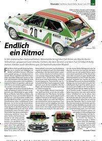 Titelbild der Ausgabe 8/2019 von Ottomobile: Fiat Ritmo Abarth Rallye Monte Carlo 1979 1:18: Endlich ein Ritmo!. Zeitschriften als Abo oder epaper bei United Kiosk online kaufen.