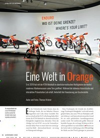 Titelbild der Ausgabe 1/2020 von KTM MOTOHALL: Eine Welt in Orange. Zeitschriften als Abo oder epaper bei United Kiosk online kaufen.