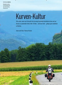 Titelbild der Ausgabe 2/2020 von KÄRNTEN: Kurven-Kultur. Zeitschriften als Abo oder epaper bei United Kiosk online kaufen.