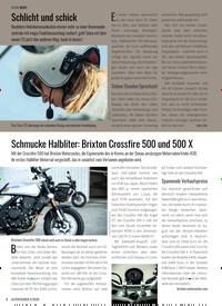 Titelbild der Ausgabe 5/2020 von Schmucke Halbliter: Brixton Crossfire 500 und 500 X. Zeitschriften als Abo oder epaper bei United Kiosk online kaufen.