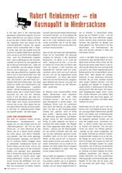 Titelbild der Ausgabe 3/2019 von Robert Reinkemeyer – ein Kosmopolit in Niedersachsen. Zeitschriften als Abo oder epaper bei United Kiosk online kaufen.