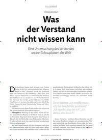 Titelbild der Ausgabe 2/2018 von HANES WEINELT: Was der Verstand nicht wissen kann. Zeitschriften als Abo oder epaper bei United Kiosk online kaufen.