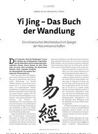 Titelbild der Ausgabe 4/2018 von GABRIEL FELLEY UND EVELYN C. FRISCH: Yi Jing – Das Buch der Wandlung. Zeitschriften als Abo oder epaper bei United Kiosk online kaufen.