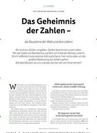 Titelbild der Ausgabe 4/2018 von TEXT UND BILDER VON MICHAEL LEITNER: Das Geheimnis der Zahlen –. Zeitschriften als Abo oder epaper bei United Kiosk online kaufen.