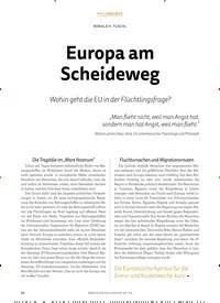 Titelbild der Ausgabe 4/2018 von RONALD H. TUSCHL: Europa am Scheideweg. Zeitschriften als Abo oder epaper bei United Kiosk online kaufen.