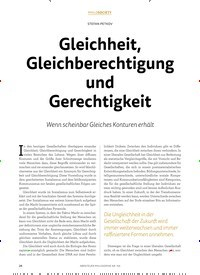 Titelbild der Ausgabe 4/2018 von STEFAN PETKOV: Gleichheit, Gleichberechtigung und Gerechtigkeit. Zeitschriften als Abo oder epaper bei United Kiosk online kaufen.