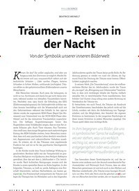 Titelbild der Ausgabe 1/2019 von BEATRICE WEINELT: Träumen – Reisen in der Nacht. Zeitschriften als Abo oder epaper bei United Kiosk online kaufen.