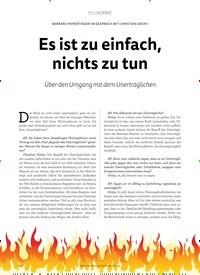 Titelbild der Ausgabe 1/2019 von BARBARA FRIPERTINGER IM GESPRÄCH MIT CHRISTIAN GRÜNY: Es ist zu einfach, nichts zu tun. Zeitschriften als Abo oder epaper bei United Kiosk online kaufen.