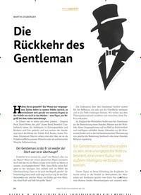 Titelbild der Ausgabe 1/2019 von MARTIN OSSBERGER: Die Rückkehr des Gentleman. Zeitschriften als Abo oder epaper bei United Kiosk online kaufen.