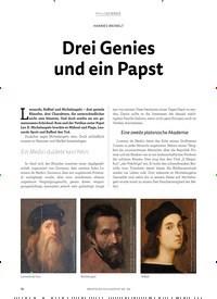 Titelbild der Ausgabe 2/2019 von Drei Genies und ein Papst. Zeitschriften als Abo oder epaper bei United Kiosk online kaufen.