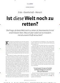 Titelbild der Ausgabe 3/2019 von Erde – Gesellschaft – Mensch: Ist diese Welt noch zu retten?. Zeitschriften als Abo oder epaper bei United Kiosk online kaufen.