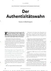 Titelbild der Ausgabe 3/2019 von DAS INTERVIEW MIT THOMAS BAUER FÜHRTE BARBARA FRIPERTINGER: Der Authentizitätswahn. Zeitschriften als Abo oder epaper bei United Kiosk online kaufen.