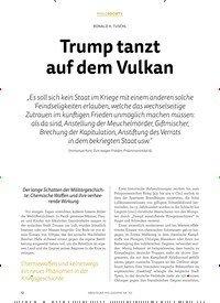 Titelbild der Ausgabe 3/2018 von Trump tanzt auf dem Vulkan. Zeitschriften als Abo oder epaper bei United Kiosk online kaufen.