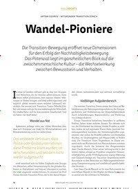 Titelbild der Ausgabe 3/2018 von Wandel-Pioniere. Zeitschriften als Abo oder epaper bei United Kiosk online kaufen.