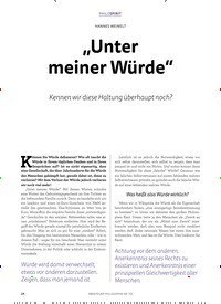 """Titelbild der Ausgabe 3/2018 von Unter meiner Würde"""". Zeitschriften als Abo oder epaper bei United Kiosk online kaufen."""