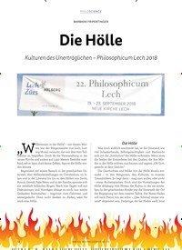 Titelbild der Ausgabe 1/2019 von BARBARA FRIPERTINGER: Die Hölle. Zeitschriften als Abo oder epaper bei United Kiosk online kaufen.