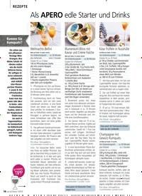 Titelbild der Ausgabe 13/2018 von REZEPTE: Als Apero edle Starter und Drinks. Zeitschriften als Abo oder epaper bei United Kiosk online kaufen.
