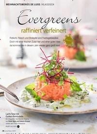 Titelbild der Ausgabe 13/2018 von WEIHNACHTSMENÜS DE LUXE / KLASSISCH: Evergreens raffiniert verfeinert. Zeitschriften als Abo oder epaper bei United Kiosk online kaufen.
